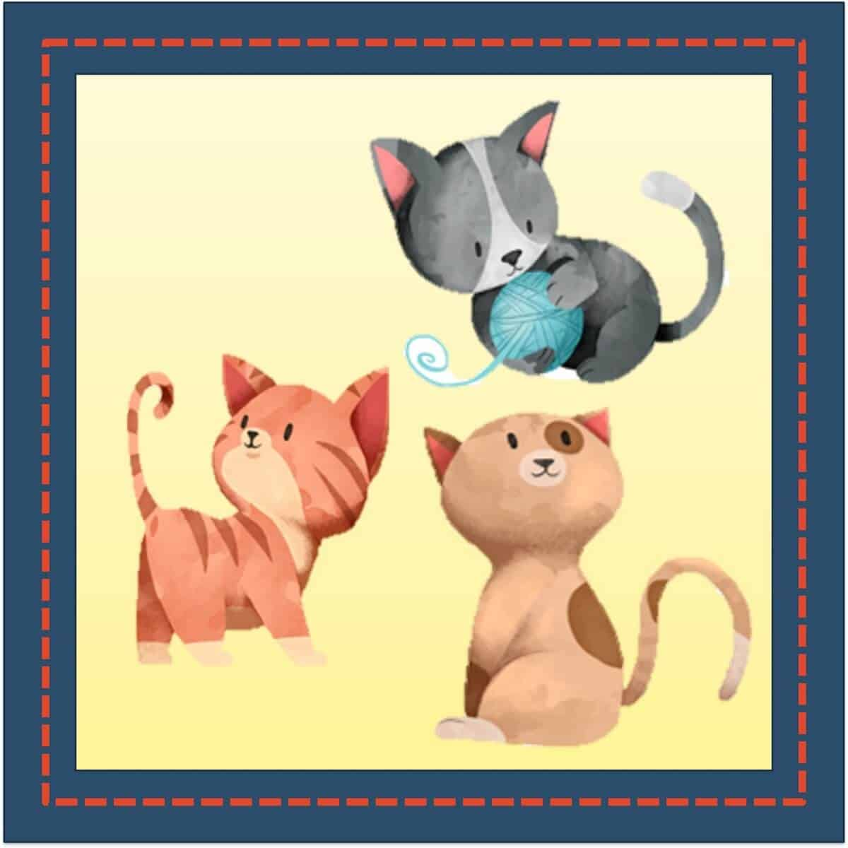 Three Little Kittens 1200